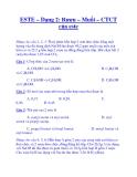 ESTE – Dạng 2: Rượu – Muối – CTCT của este