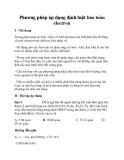 Phương pháp áp dụng định luật bảo toàn electron