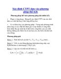 Xác định CTPT dựa vào phương pháp thể tích