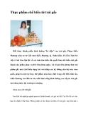 Thực phẩm chế biến từ trái gấc