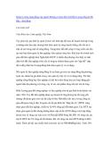 """Nghiên cứu khoa học """" Quản lý rừng cộng đồng của người Mường ở Xóm Doi Xã Hiền Lương Huyện Đà Bắc - Hoà Bình  """""""