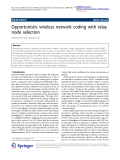 """Báo cáo toán học: """"  Opportunistic wireless network coding with relay node selection"""""""