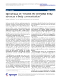 "Báo cáo toán học: ""  Special issue on ""Towards the connected body: advances in body communications"""""
