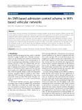 """Báo cáo toán học: """"  An SNR-based admission control scheme in WiFibased vehicular networks"""""""