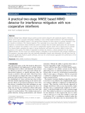 """Báo cáo toán học: """"  A practical two-stage MMSE based MIMO detector for interference mitigation with noncooperative interferers"""""""