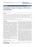 """Báo cáo toán học: """"  Convolution of large 3D images on GPU and its decomposition"""""""