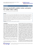 "Báo cáo toán học: "" Memory bandwidth-scalable motion estimation for mobile video coding"""