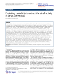 "Báo cáo toán học: "" Exploiting periodicity to extract the atrial activity in atrial arrhythmias"""