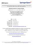 "Báo cáo toán học: ""  Modeling formalisms in Systems Biology"""