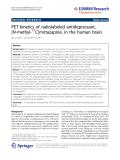 "Báo cáo toán học: ""  PET kinetics of radiolabeled antidepressant, [N-methyl-11C]mirtazapine, in the human brain"""