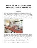 Hướng dẫn Thí nghiệm thực hành trường THPT chuyên môn Hóa học