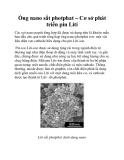Ống nano sắt photphat – Cơ sở phát triển pin Liti