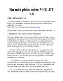 Ra mắt phần mềm ViOLET 1.6