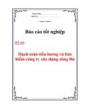 """Báo cáo tốt nghiệp: """"Hạch toán tiền lương và bảo hiểm tại Xí nghiệp XD Sông Đà 903"""""""