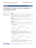 "Báo cáo hóa học: ""   An extension of Jensen's discrete inequality to half convex functions"""