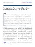 """Báo cáo hóa học: """"   The application of carbon nanotubes in target drug delivery systems for cancer therapies"""""""