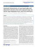 "Báo cáo hóa học: ""   Improved characteristics of near-band-edge and deep-level emissions from ZnO nanorod arrays by atomic-layer-deposited Al2O3 and ZnO shell layers"""