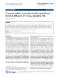 """Báo cáo hóa học: """"   Characterization upon electrical hysteresis and thermal diffusion of TiAl3Ox dielectric film"""""""