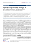 "Báo cáo hóa học: ""   Rheological non-Newtonian behaviour of ethylene glycol-based Fe2O3 nanofluids"""