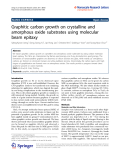 "Báo cáo hóa học: ""   Graphitic carbon growth on crystalline and amorphous oxide substrates using molecular beam epitaxy"""