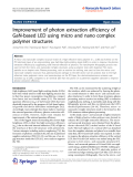 """Báo cáo hóa học: """"   Improvement of photon extraction efficiency of GaN-based LED using micro and nano complex polymer structures"""""""