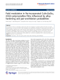 """Báo cáo hóa học: """"  Field modulation in Na-incorporated Cu(In,Ga)Se2 (CIGS) polycrystalline films influenced by alloyhardening and pair-annihilation probabilities"""""""