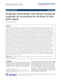 """Báo cáo hóa học: """"  Designing nanomaterials with desired mechanical properties by constraining the evolution of their grain shapes"""""""