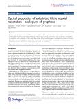 "Báo cáo hóa học: ""   Optical properties of exfoliated MoS2 coaxial nanotubes - analogues of graphene"""