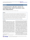"""Báo cáo hóa học: """"  Constrained power allocation schemes for coordinated base station transmission using block diagonalization"""""""