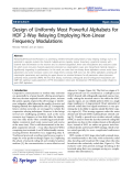 """Báo cáo hóa học: """"   Design of Uniformly Most Powerful Alphabets for HDF 2-Way Relaying Employing Non-Linear Frequency Modulations"""""""