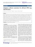 "Báo cáo hóa học: "" Adaptive collision resolution for efficient RFID tag identification"""
