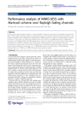 """Báo cáo hóa học: """" Performance analysis of MIMO-SESS with Alamouti scheme over Rayleigh fading channels"""""""