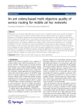 "Báo cáo hóa học: ""An ant colony-based multi objective quality of service routing for mobile ad hoc networks"""