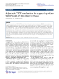"""Báo cáo hóa học: """"   Adjustable TXOP mechanism for supporting video transmission in IEEE 802.11e HCCA"""""""
