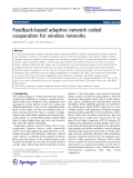 """Báo cáo hóa học: """"   Feedback-based adaptive network coded cooperation for wireless networks"""""""