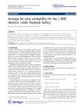 "Báo cáo hóa học: ""  Average bit error probability for the l-MRC detector under Rayleigh fading"""