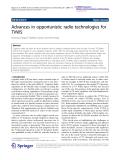 "Báo cáo hóa học: ""  Advances in opportunistic radio technologies for TVWS"""