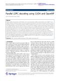"Báo cáo hóa học: ""   Parallel LDPC decoding using CUDA and OpenMP"""