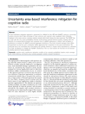 """Báo cáo hóa học: """"   Uncertainty area-based interference mitigation for cognitive radio"""""""