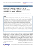 """Báo cáo hóa học: """"   Impacts of impulsive noise from partial discharges on wireless systems performance: application to MIMO precoders"""""""