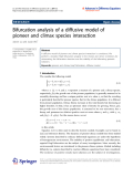 """Báo cáo hóa học: """"   Bifurcation analysis of a diffusive model of pioneer and climax species interaction"""""""