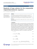 """Báo cáo hóa học: """" Regularity of large solutions for the compressible magnetohydrodynamic equations"""""""