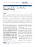 "Báo cáo hóa học: "" Detecting controlling nodes of boolean regulatory networks"""