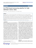 """Báo cáo hóa học: """"  An FPGA-based processing pipeline for highdefinition stereo video"""""""