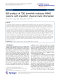 """Báo cáo hóa học: """"  BER analysis of TDD downlink multiuser MIMO systems with imperfect channel state information"""""""