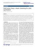 "Báo cáo hóa học: ""   Hard versus fuzzy c-means clustering for color quantization"""