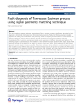 "Báo cáo hóa học: ""Fault diagnosis of Tennessee Eastman process using signal geometry matching technique"""