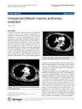 "Báo cáo hóa học: ""  Unexpected bilateral massive pulmonary embolism Zaffer Qasim"""