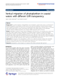 "Báo cáo hóa học: ""   Vertical migration of phytoplankton in coastal waters with different UVR transparency"""