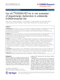 """Báo cáo hóa học: """"  Use of [18F]FDOPA-PET for in vivo evaluation of dopaminergic dysfunction in unilaterally 6-OHDA-lesioned rats"""""""